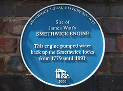 Photo of Smethwick Engine and James Watt blue plaque
