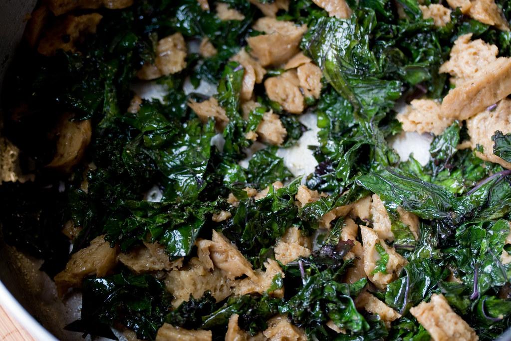 Kale and Seitan for Colcannon