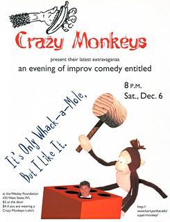 Crazy Monkeys - flyer - 12/6/1997