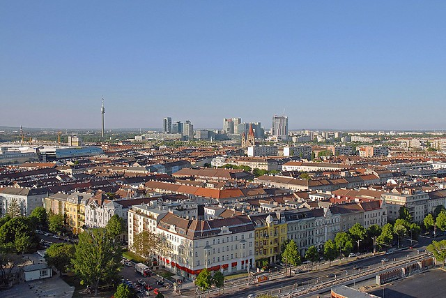 a part of vienna looking from the Riesenrad (Prater)