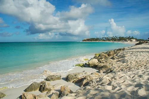 blue sea sky seascape beach coral clouds landscape coast sand nikon d70 scenic sunny aruba caribbean waterscape tamarijn flickrelite