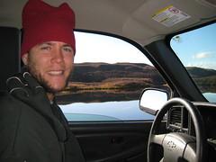 Tim driving