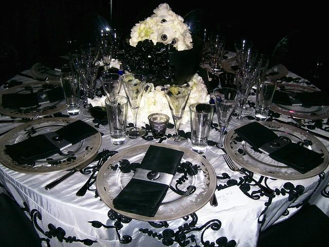 Black And White Wedding Table Arrangement Style I Flickr