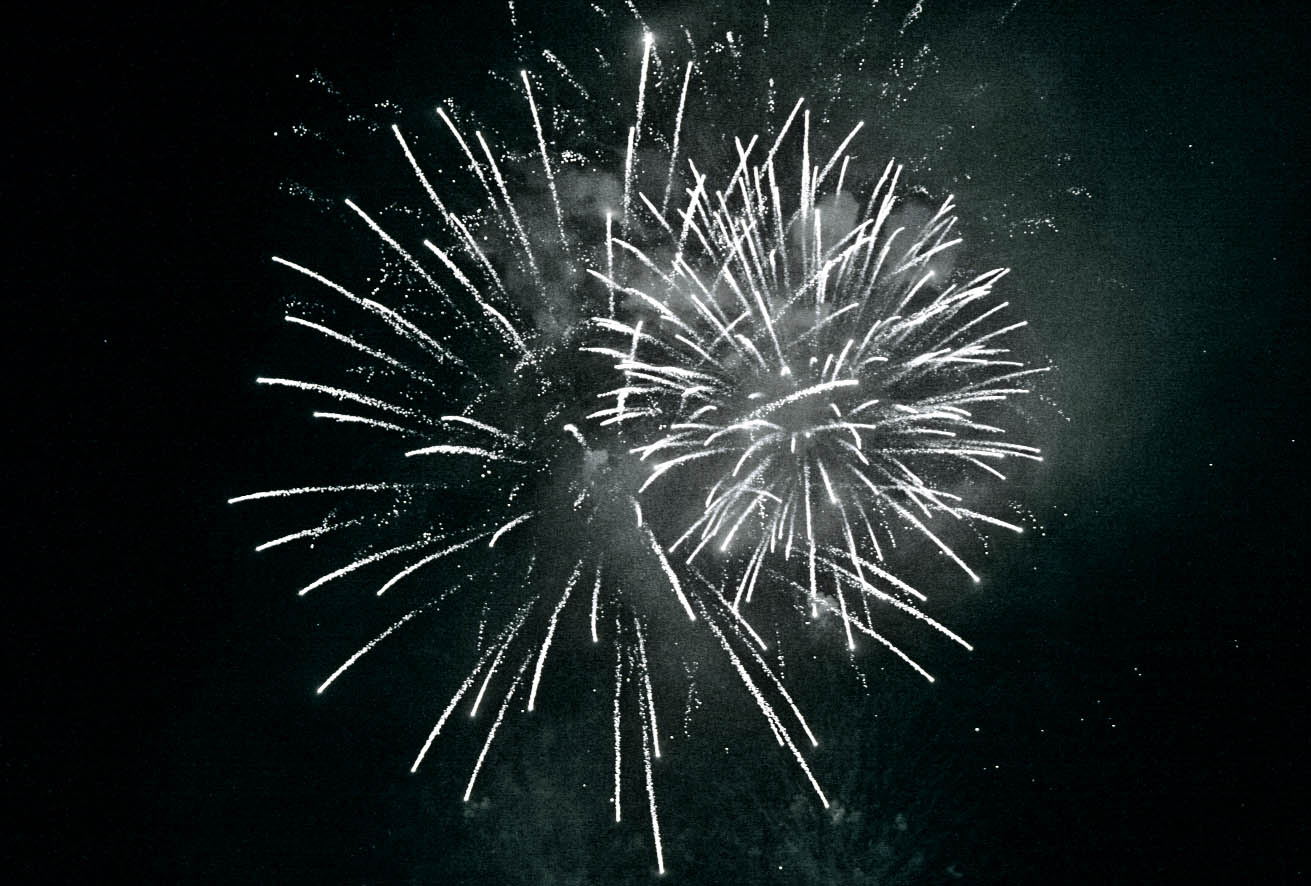 the white night: fireworks - como, italy