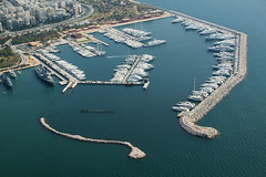 port, dock, artificial island, aerial photography, marina,