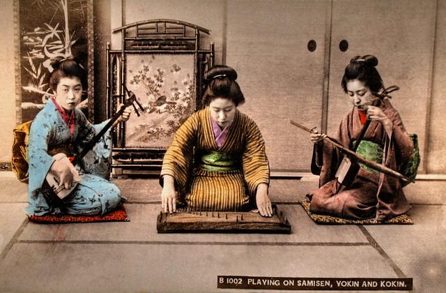 Playing on Samisen, Yokin and Kokin
