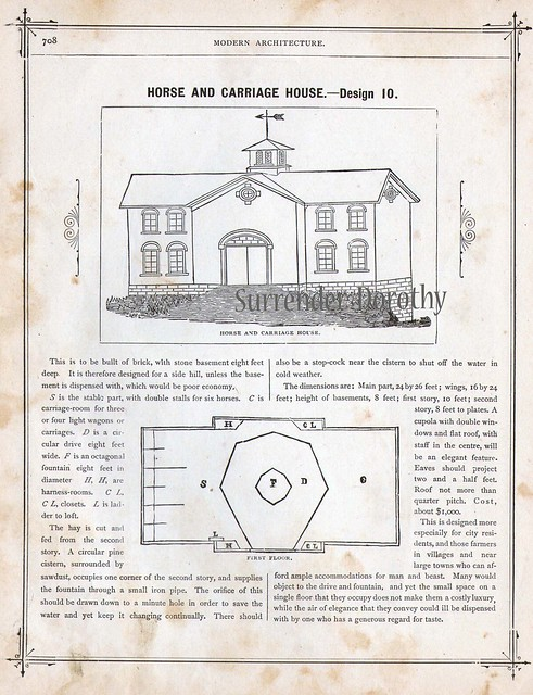1881 plan 10 horse and carriage house flickr photo for Progressive farmer house plans