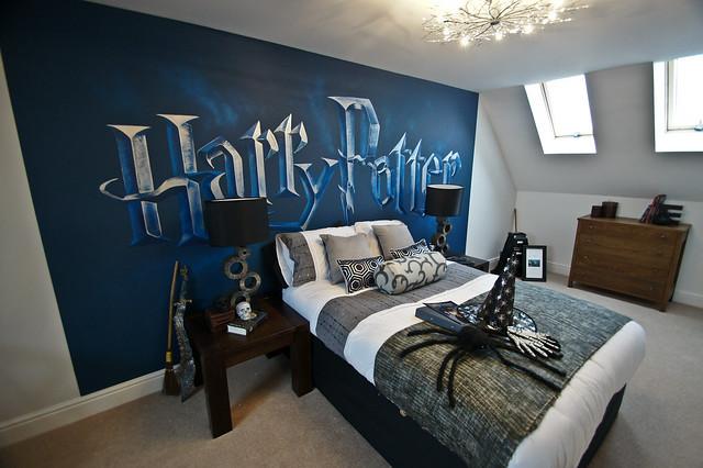 harry potter mural room sweetartmurals flickr photo sharing