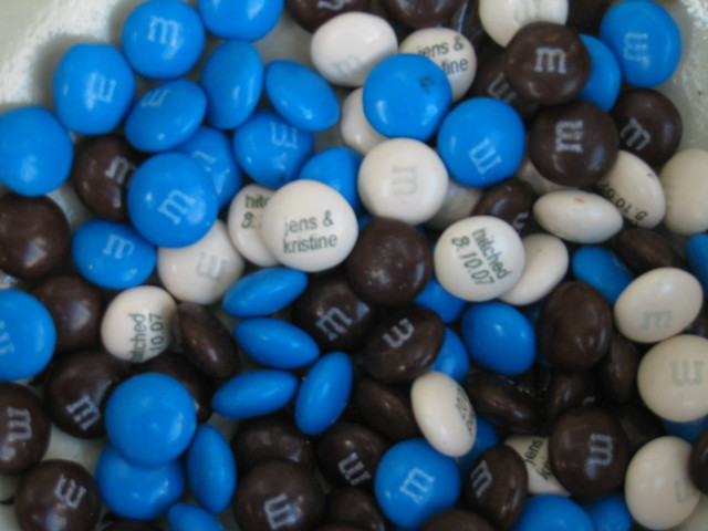 Order Personalized M&Ms. To order M&M's candy with your very own custom-printed messages on them, it's a simple 3-step process: #1. Choose your colors — up to 2 different colors per order if you're just personalizing with words; or 3 different colors if you're personalizing with images & words or logos.