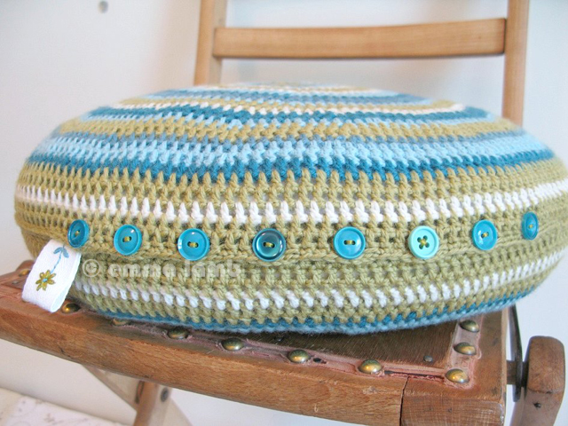 Doreen, hand crochet cushion | Emma Lamb