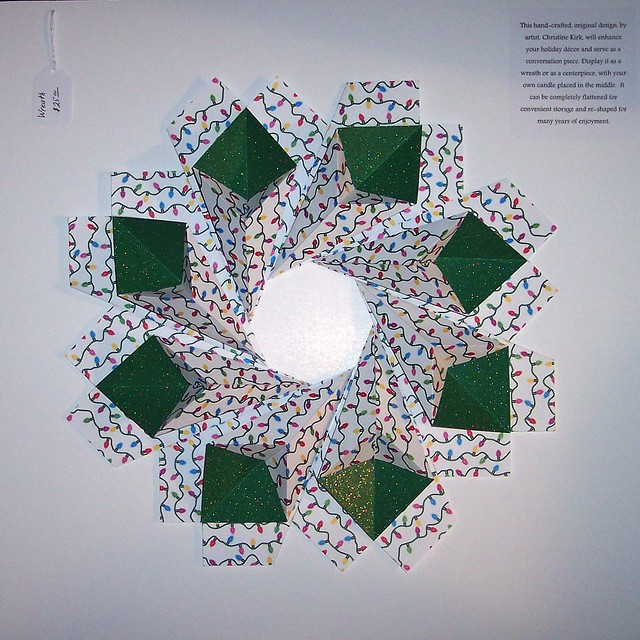 Christmas lights origami wreath flickr photo sharing