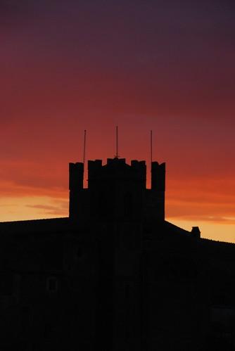 sunset tower tramonto calcata icomei