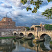 Rome. Castel Sant'Angelo with the Ponte Sant'Angelo. by egold.