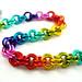 Bright Rainbow Bracelet! by RedPandaChainMail