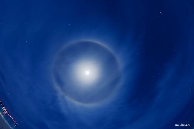 Лунное гало - Moon halo