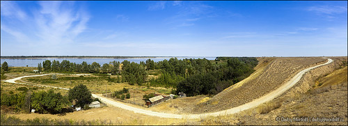 road summer sky sunlight house building tree nature water horizontal forest river landscape outdoors town exterior riverside russia culture scene panoramic lane ravine russian tranquil volga scenics steppe steep