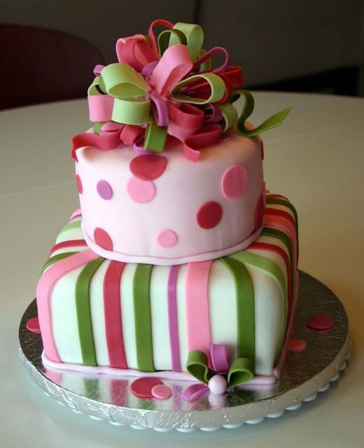 Birthday Present Cake 2 Tier