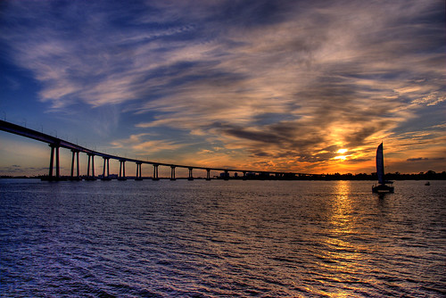 Sunset, Coronado Bridge, San Diego