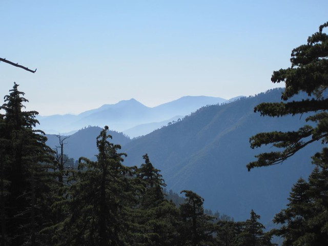 Looking down Icehouse Canyon into the afternoon haze