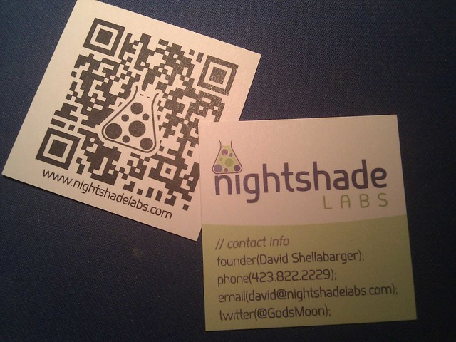 Nightshade Labs card by David Shellabarger via YouTheDesigner