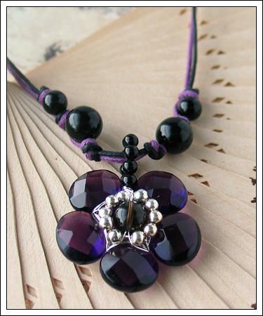 Briolette flower pendant (Eni Oken's design)