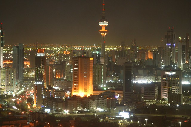 Kuwait City at night by CC user snapr on Flickr