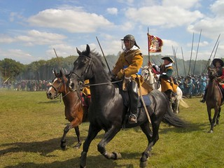 CIMG3678 Military Odyssey 2007 English Civil War Reenactment Cavalry Charge