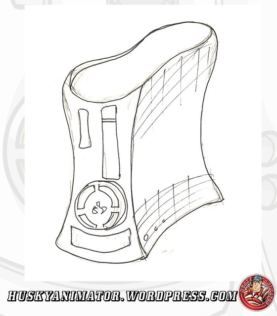 Coloring Pages Xbox 360 : Xbox logo drawing sketch coloring page