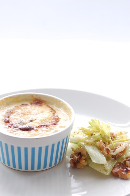 Twice baked cauliflower & gorgonzola souffles | Explore jule ...