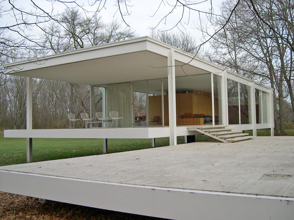 mies van der rohe 39 s farnsworth house a photo on flickriver. Black Bedroom Furniture Sets. Home Design Ideas