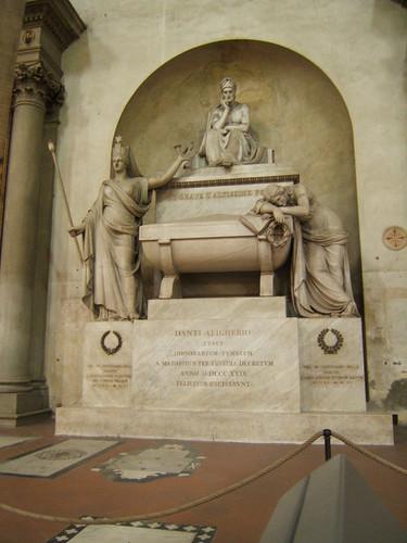 Tomba Dante a Santa Croce, Dante Alligheri in Santa Croce, Italy