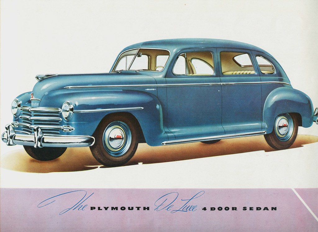 1946 plymouth de luxe 4 door sedan a photo on flickriver for 1946 plymouth special deluxe 4 door