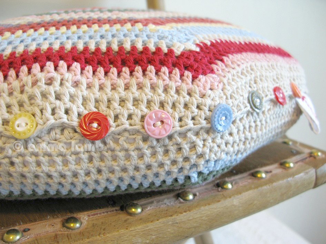 Isobel, hand crochet cushion | Emma Lamb