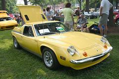 automobile, vehicle, performance car, automotive design, antique car, lotus europa, classic car, land vehicle, sports car,