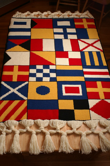 Nautical Blanket Pattern - Knitting Patterns and Crochet Patterns