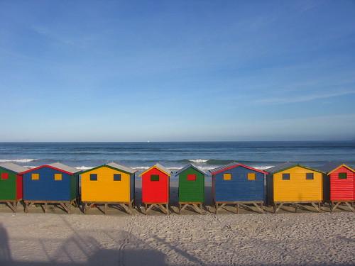 Plage de Muizemberg, haut lieu du surf sud-africain