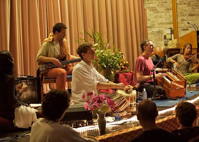 Krishna Das and friends