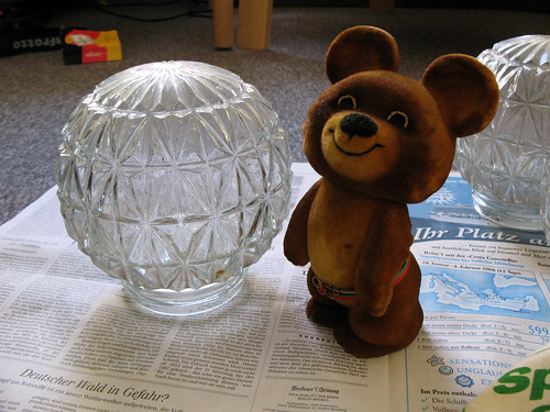 Misha and a lightball