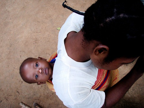 africa child mother congo lomako