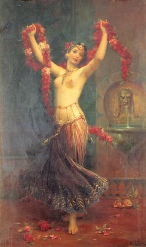 The Harem Dancer by Zatzka, Hans