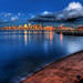 Seattle Skyline Reflected on Puget Sound by Surrealize