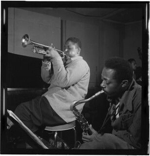 [Portrait of Fats Navarro and Charlie Rouse, New York, N.Y., between 1946 and 1948] (LOC)