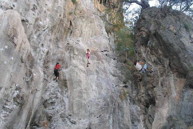 Railay climbing