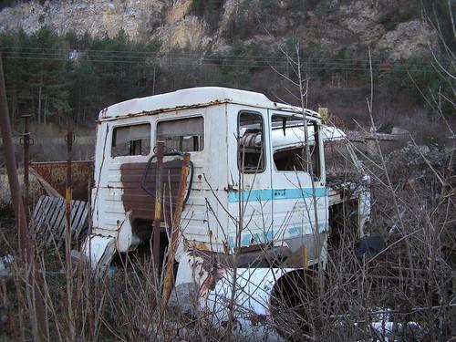 Cabina d'un Pegaso cabina quadrada a Campdevànol