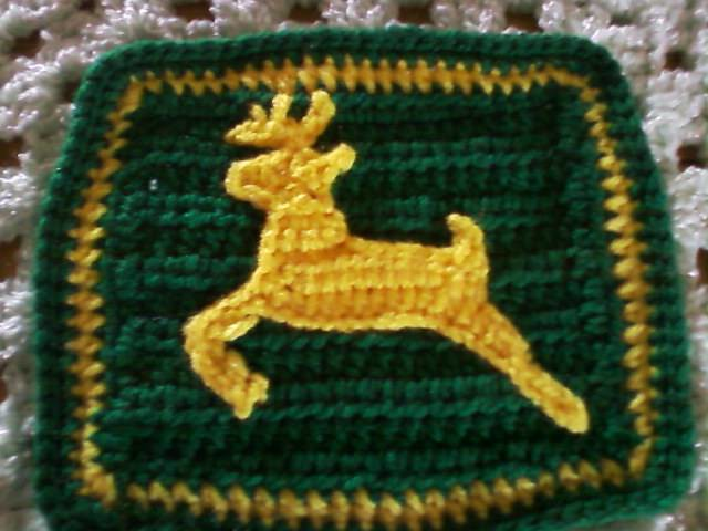 john deere stag logo applique square Flickr - Photo Sharing!