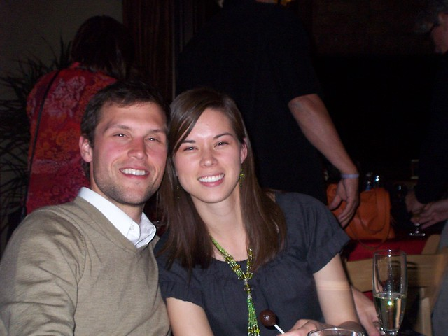ian and anna at the rehearsal dinner