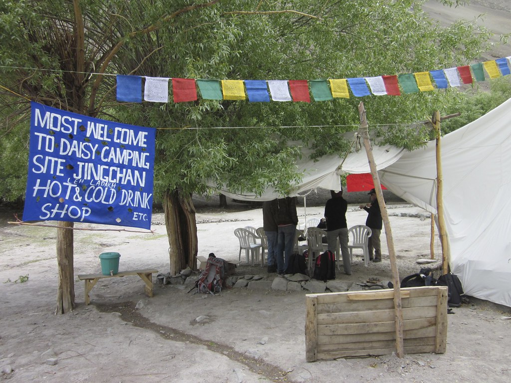 Parachute cafe at Daisy camping site, India