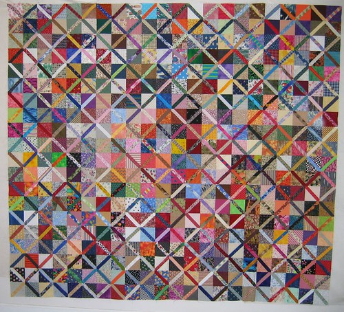 group quilt up on design wall