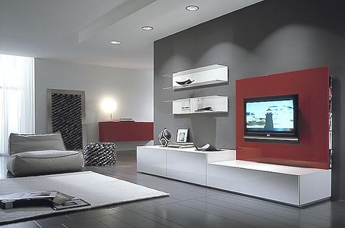 Mueble panel modular vajillero lcd living progetto mobili for Muebles balbin infiesto