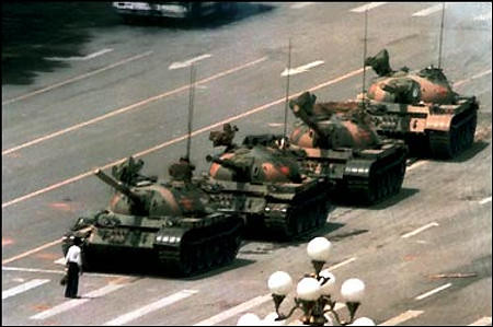 Tiananmen Square Tanks Protest